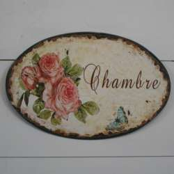Plaque de Porte Chambre Décoration de Charme
