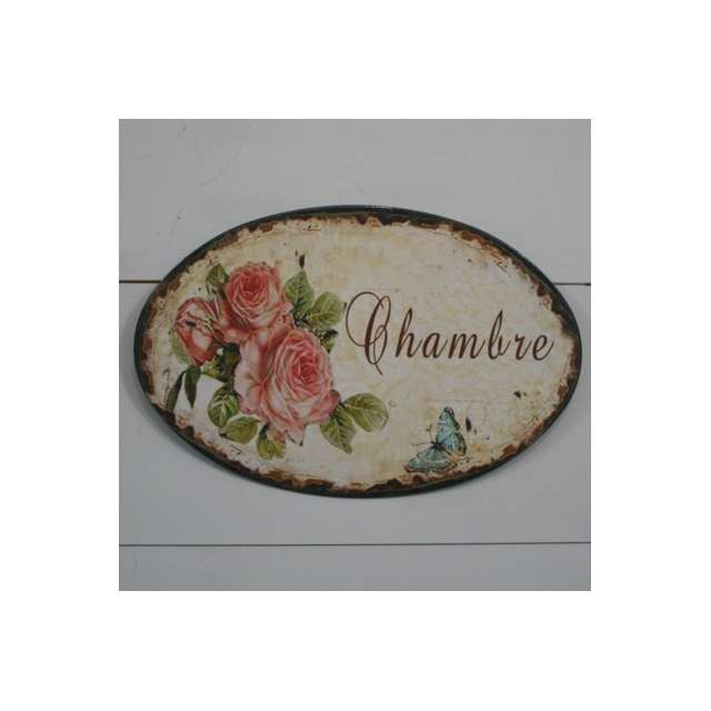 Tableaux roses anciennes shabby chic decoration murale for Deco porte chambre