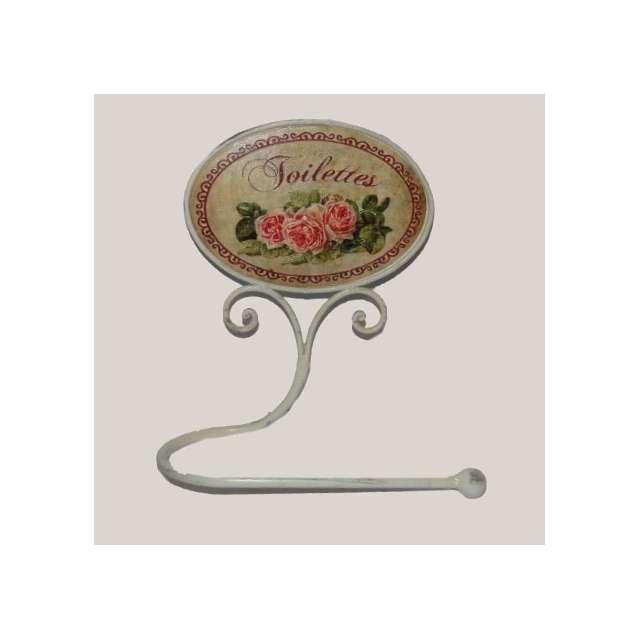 Dérouleur Papier Toilettes Roses Décoration de Charme
