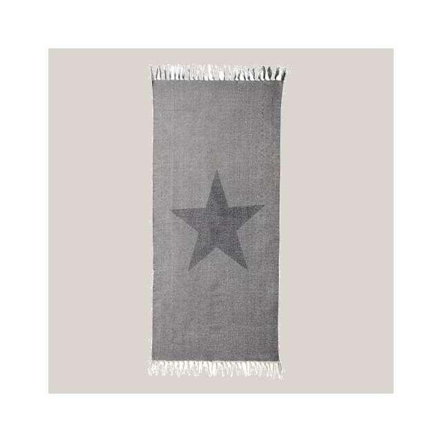 Tapis d coration etoile noire de la marque bloomingville - Tapis etoile gris ...