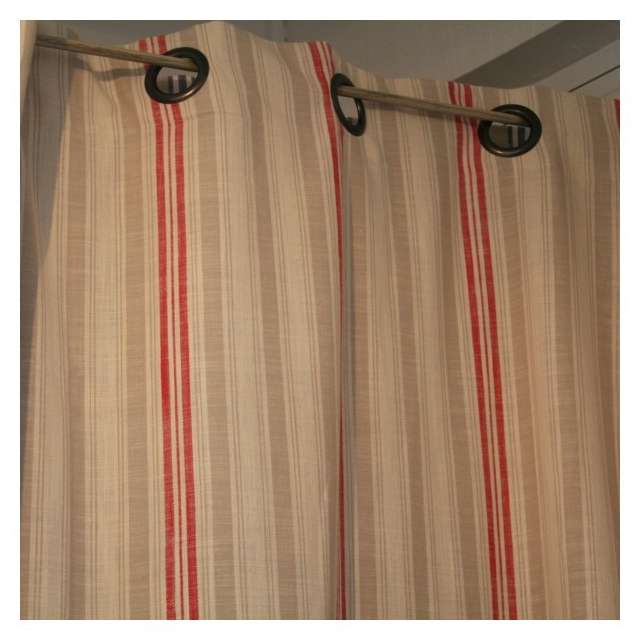 Deco rideau - Double rideaux en lin ...
