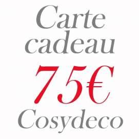Carte Cadeau 75€ Cosy Déco