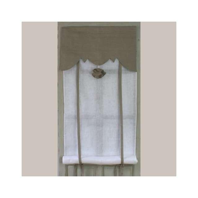 Store Blanc et Pompon Lin Aux Cotonnades de Mathilde