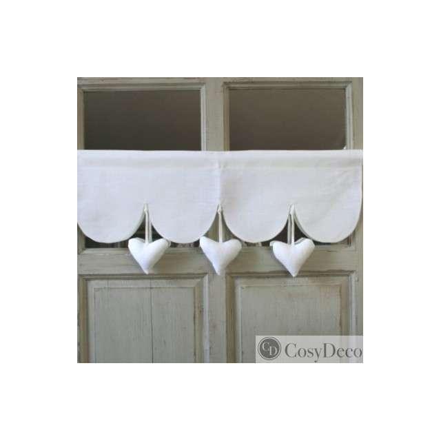 Rideau Coeur : Cantonnière coeur suspendus decoration aux cotonnades de