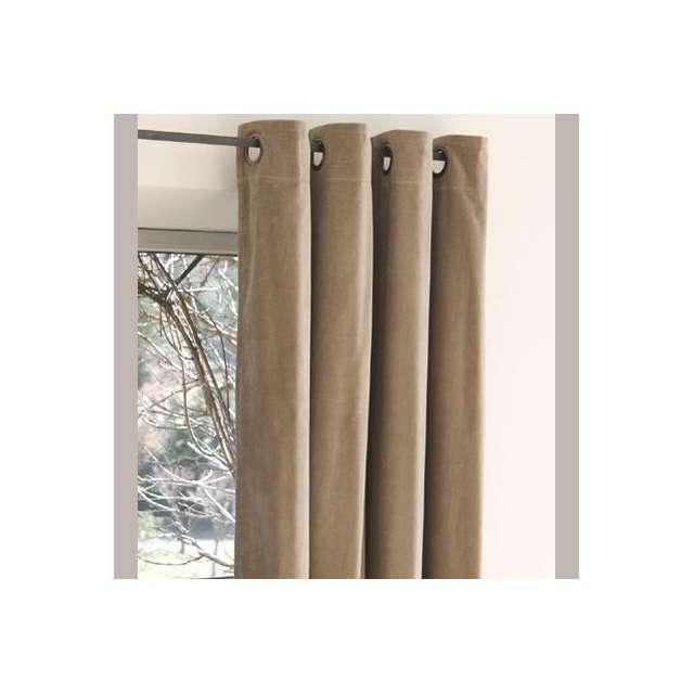 rideaux velours taupe beige boutique d co en ligne cosy d co. Black Bedroom Furniture Sets. Home Design Ideas