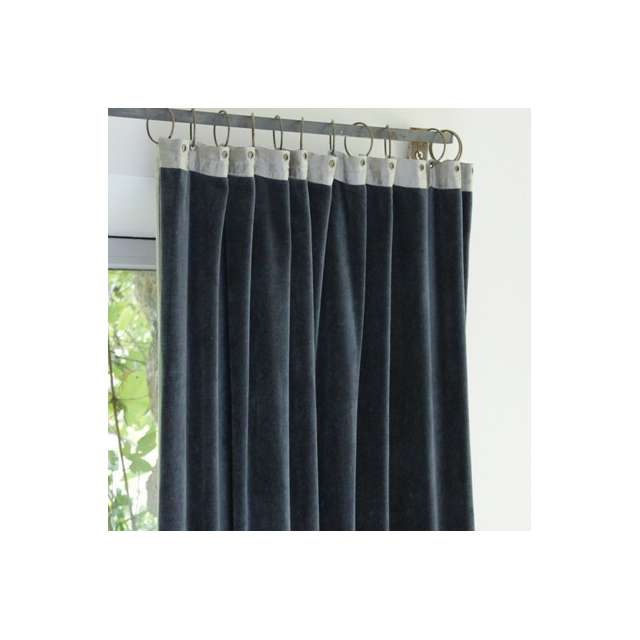 Rideau Velours Uni Anthracite Ambiance Cosy