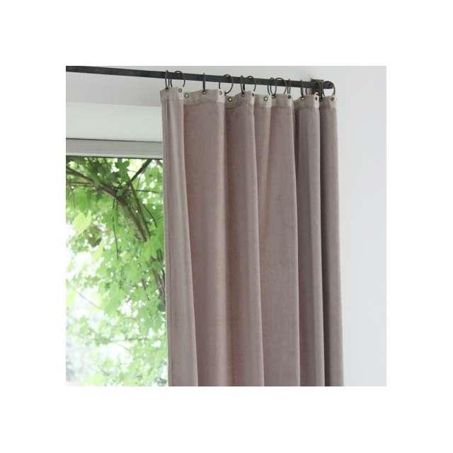 rideaux en fil d 39 indienne velours gris souris boutique d co en ligne cosy d co. Black Bedroom Furniture Sets. Home Design Ideas