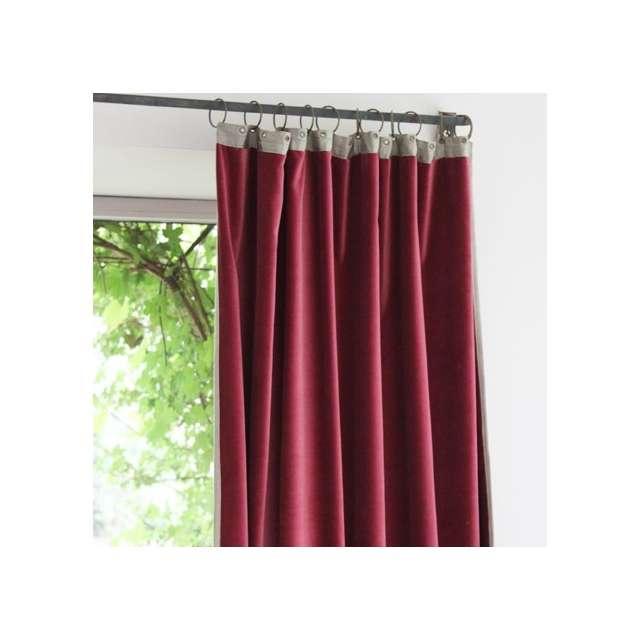 rideaux en fil d 39 indienne velours framboise boutique. Black Bedroom Furniture Sets. Home Design Ideas