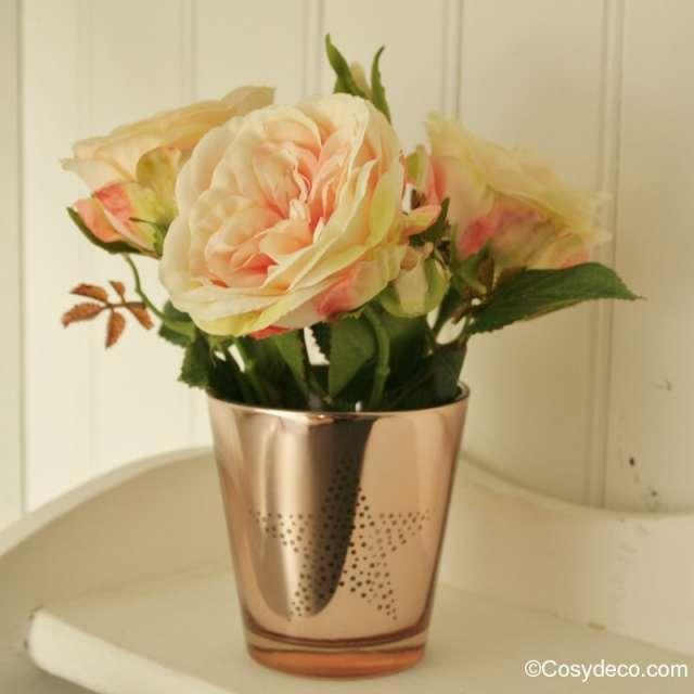 tige de rosier anglais couleur pastel artificielle pour bouquets raffin s. Black Bedroom Furniture Sets. Home Design Ideas