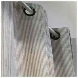 Rideau Lin rayé à Oeillets métal Décoration Maison