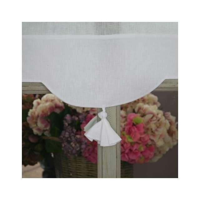 brise bise lin blanc brise vue largeur 45 centim tres. Black Bedroom Furniture Sets. Home Design Ideas