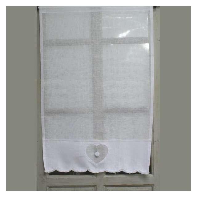 brise bise lin blanc d cor coeur esprit charme boutique cosy d co. Black Bedroom Furniture Sets. Home Design Ideas