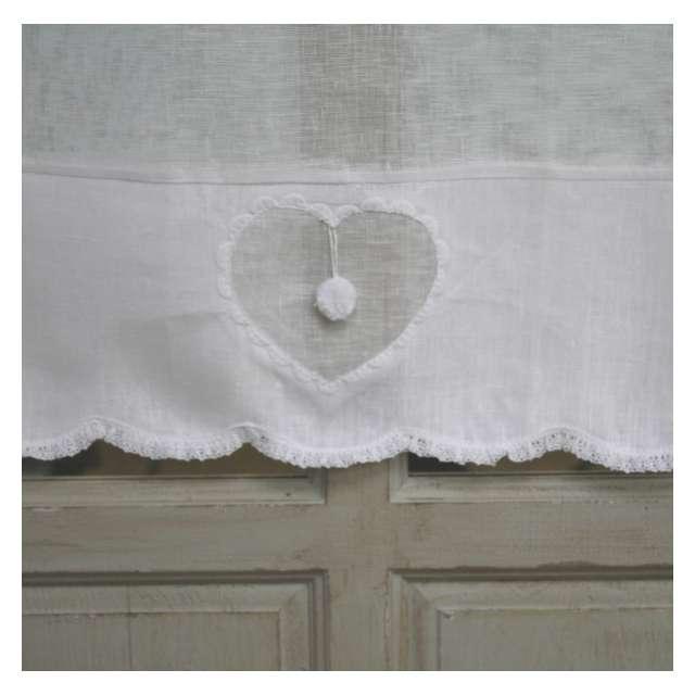 brise bise lin blanc d cor coeur esprit charme boutique. Black Bedroom Furniture Sets. Home Design Ideas