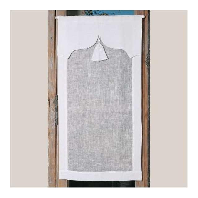 Brise-Bise sur-mesure Lin Blanc modèle Paquerette