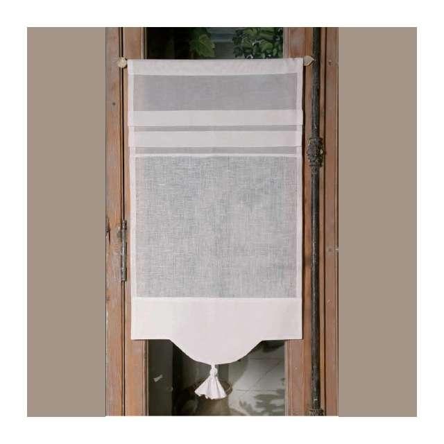 brise bise sur mesure lin blanc pour une d coration de charme. Black Bedroom Furniture Sets. Home Design Ideas