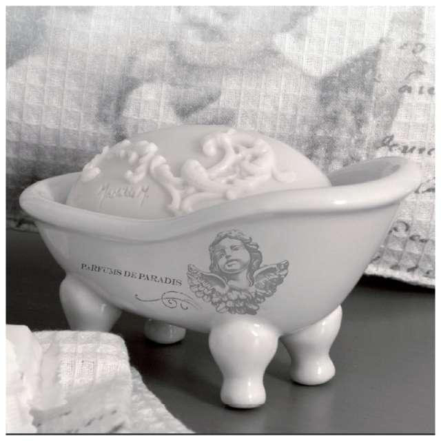 Accessoires de salle de bain mathilde m d cor ange romantique for Porte savon salle de bain