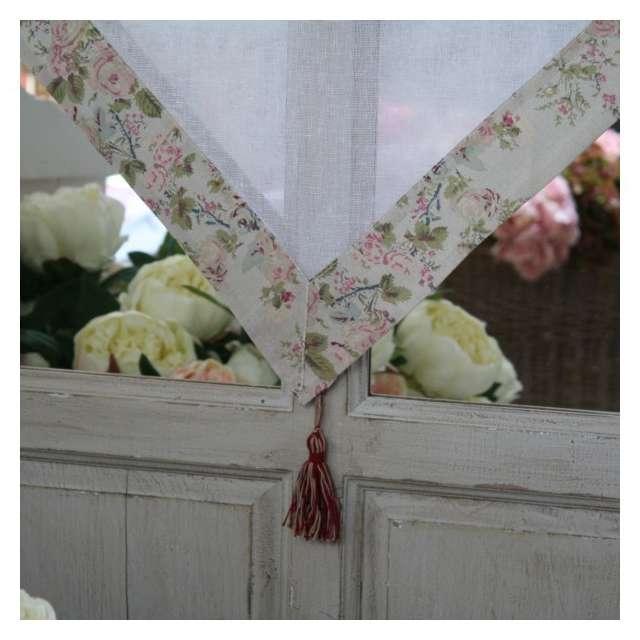 boutique brise bise rideau fleuri coton d coration romantique. Black Bedroom Furniture Sets. Home Design Ideas