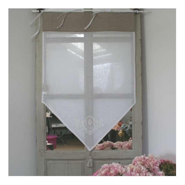 Brise bises petit rideau largeurs au choix pour votre maison - Brise bise lin ...