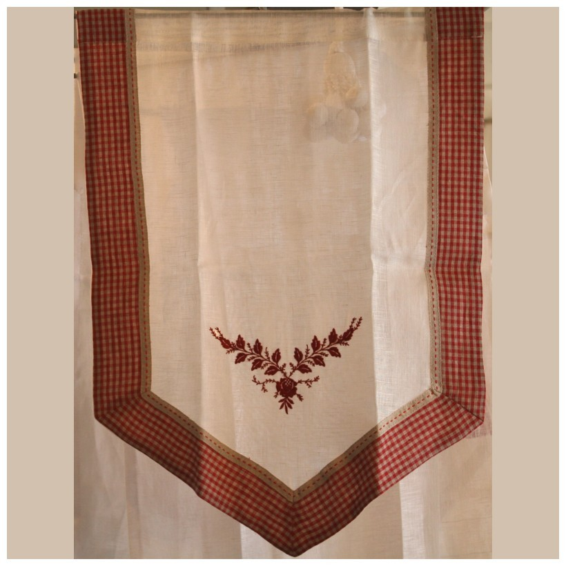 Brise bise cuisine sur mesure d co campagne fabrication - Fabrication rideaux ...
