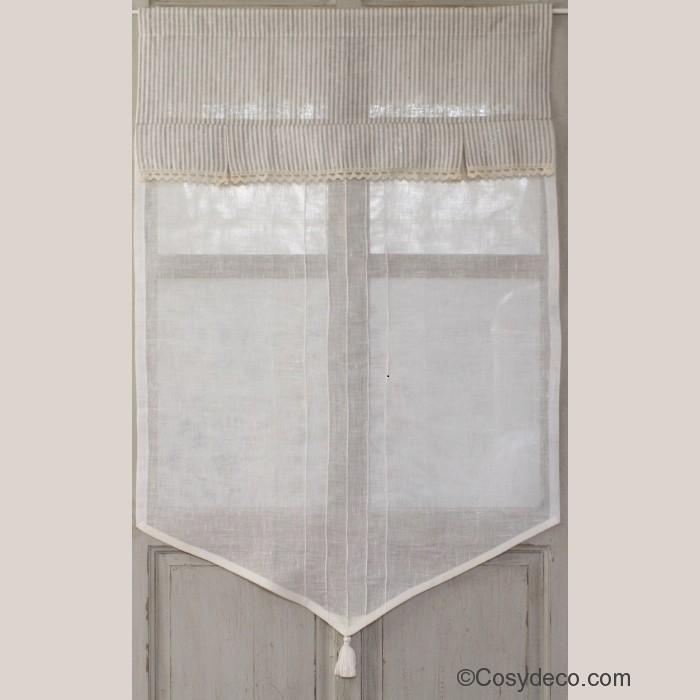 brise bise rayures couleur lin deux largeurs aux choix. Black Bedroom Furniture Sets. Home Design Ideas