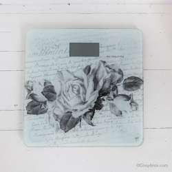 Pèse personne Mathilde M Décor Roses Romantiques