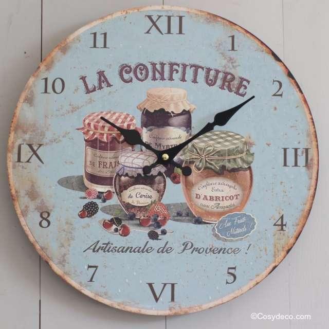 Horloge murale deco cuisine Campagne Rétro