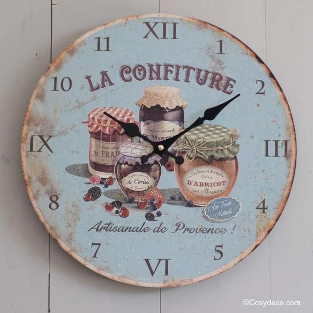 Horloge murale cuisine ambiance campagne r tro boutique - Horloges murales cuisine ...
