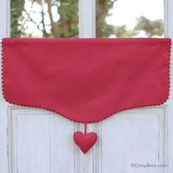 Cantonniere Coeur Rouge Campagne Chic