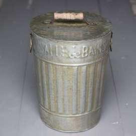 Poubelle Salle de Bain Rétro zinc