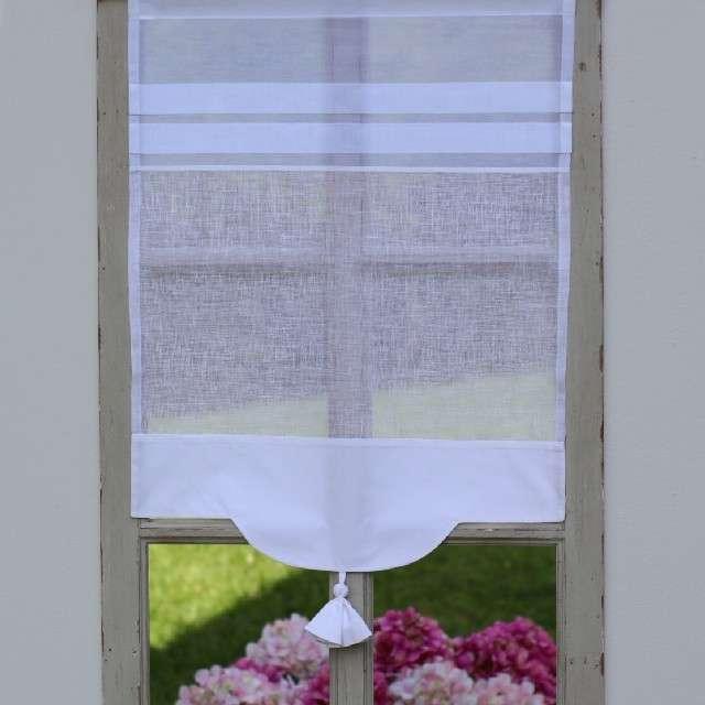 Brise Bise Lin Blanc Geranium Déco Cosy