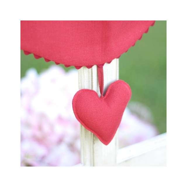 Brise bise coeur rouge et croquet d co cosy - Decoration coeur rouge ...
