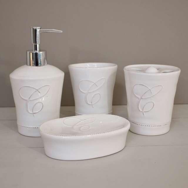 Accessoires de salle de bain romantiques chehoma en vente chez cosydeco - Deco salle de bain romantique ...