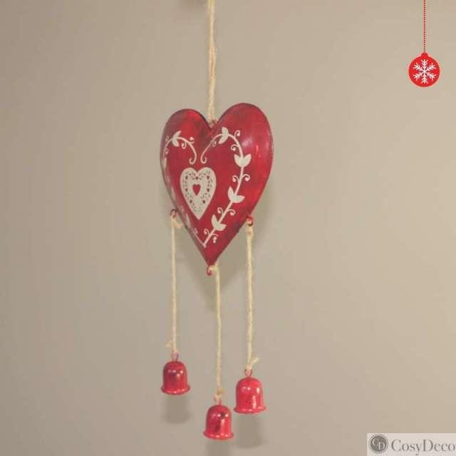 Décoration de Noël Coeur Rouge