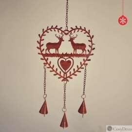 Décoration de Noël Coeur rouillé