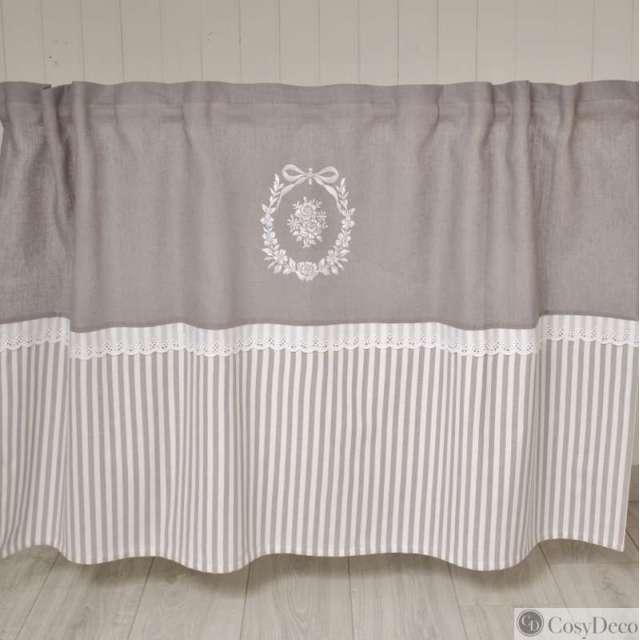rideau sous evier romantique chez cosy d co. Black Bedroom Furniture Sets. Home Design Ideas