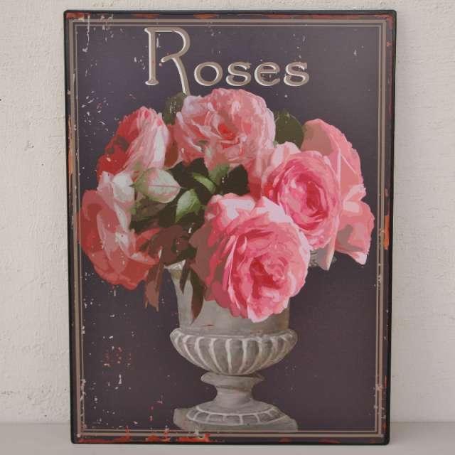 Plaque d corative murale fleurs ambiance cosy et charme for Plaque murale decorative