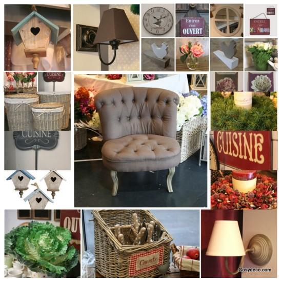 Cosy d co boutique deco charme maison r tro vintage campagne for Decoration charme cosy