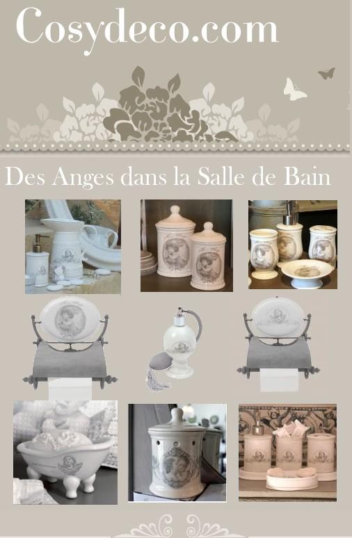 des anges dans votre salle de bain accessoires d co. Black Bedroom Furniture Sets. Home Design Ideas