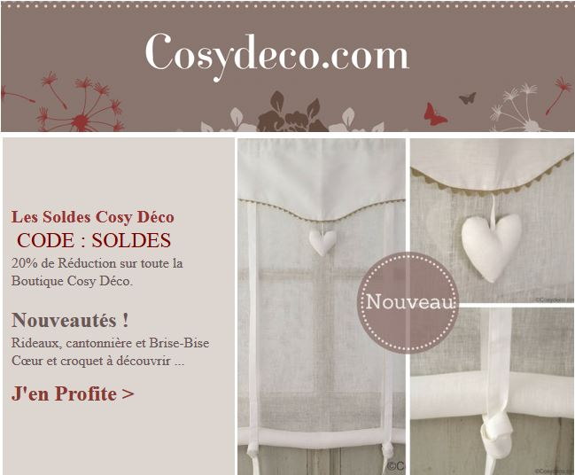 newsletters boutique cosy d co boutique d co maison en ligne. Black Bedroom Furniture Sets. Home Design Ideas