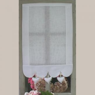rideau brise bise coeur blanc deco de charme de la maison. Black Bedroom Furniture Sets. Home Design Ideas