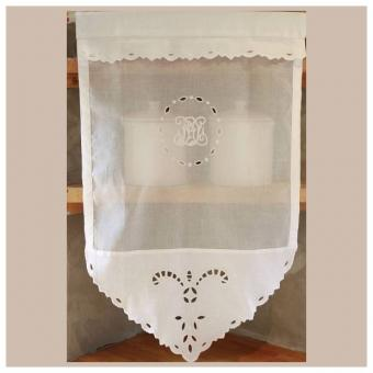 Rideau blanc cosydeco tous les objets de d coration sur - Rideau coton blanc brode ...