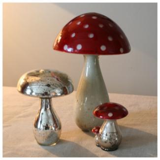 Champignon chehoma rouge verre mercuris d co cosy d co - Boutique deco vintage en ligne ...