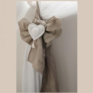 embrasse rideau coeur mathilde m d co de charme. Black Bedroom Furniture Sets. Home Design Ideas