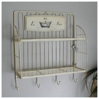 etag re et crochets salle de bain d co le bain d co r tro cosy d co boutique d co maison en. Black Bedroom Furniture Sets. Home Design Ideas