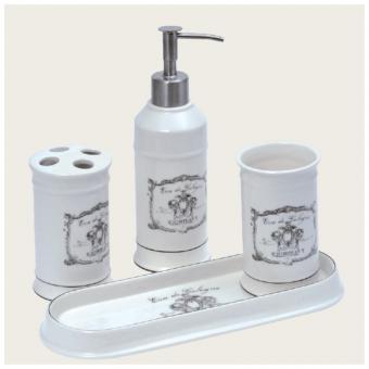 Toilettes porcelaine tous les objets de d coration sur - Accessoire salle de bain blanc ...