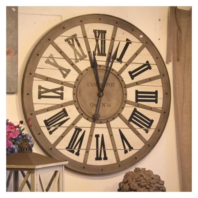 Horloge gare style industriel