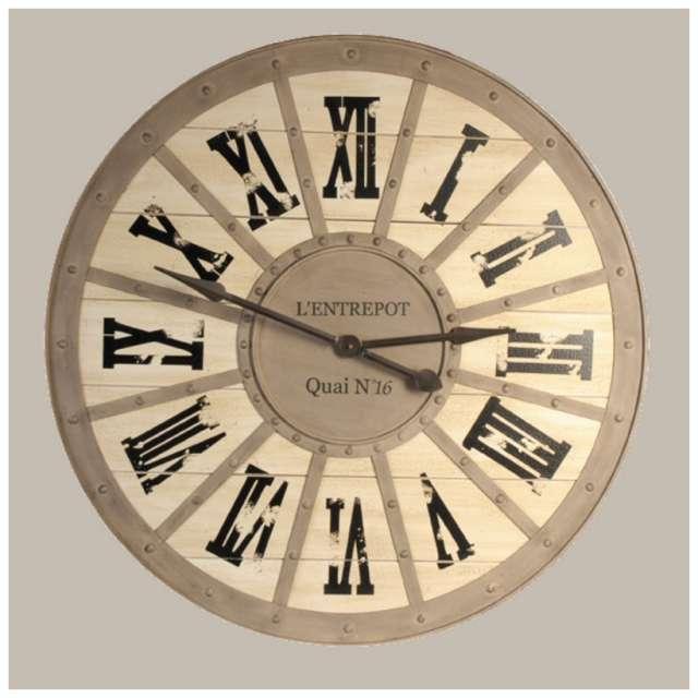 horloge gare metal bois murale style industriel d coration r tro