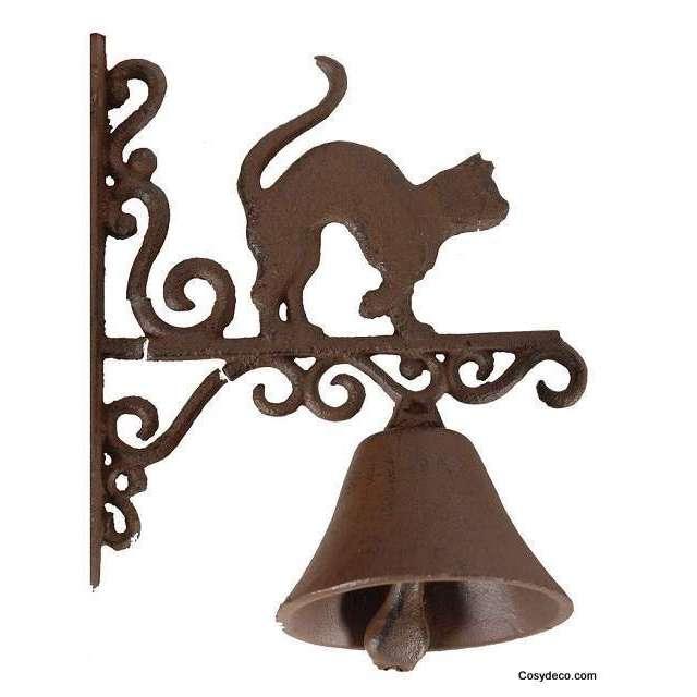 cloche de porte chat en fonte