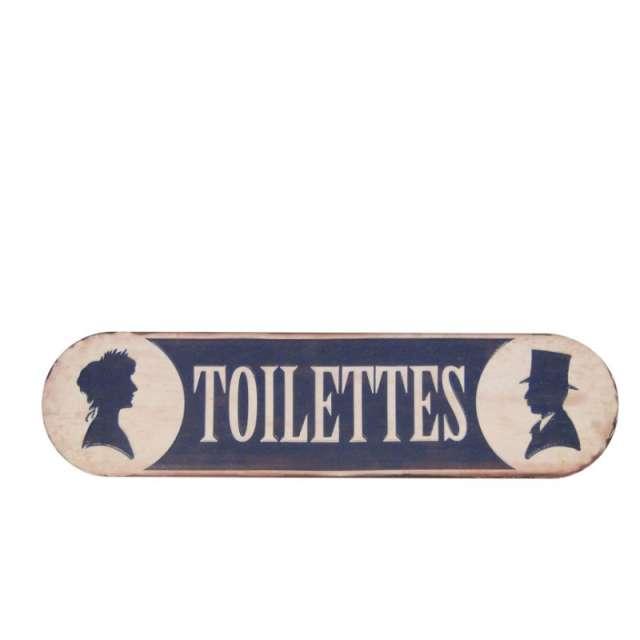 Plaque de Porte Toilettes style Brocante