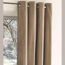 Rideau Velours Taupe